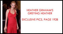 Heather Graham's greying heather.