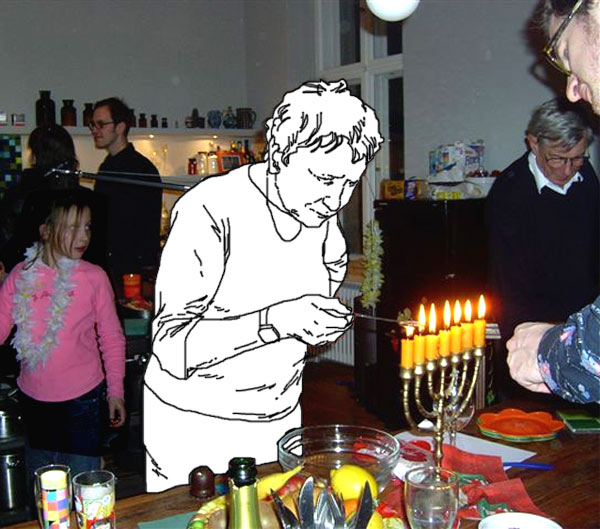 Invisble mother at Chanukah