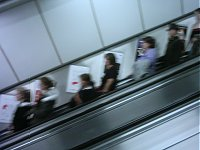 People on an escalator. I think it was at Tottenham Court Road.