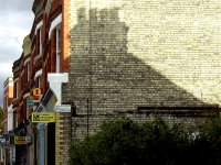A shadow on Palace Gates Road.