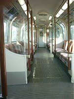 An empty tube carriage. Spooky