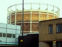 The gas ring behind Wood Green.
