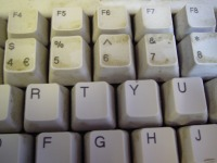 A very grubby keyboard. Yes.