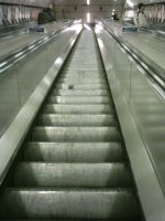 The escalators at Bounds Green station