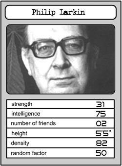 Philip Larkin Top Trumps